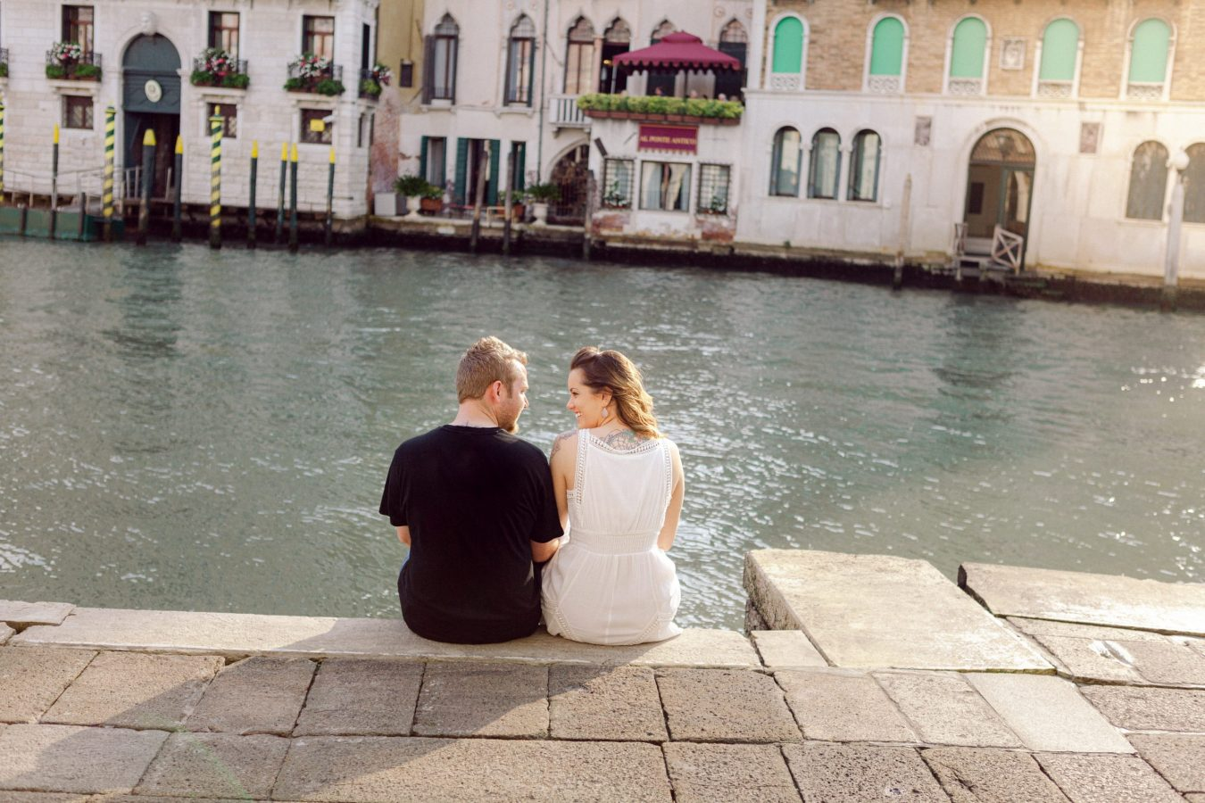 Just engaged, traveling through Europe. Couple photoshoot in Venice