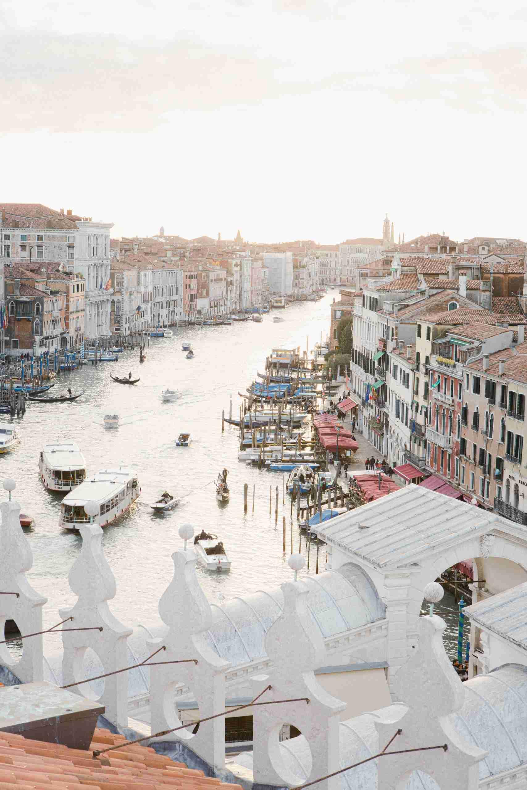 Venice from above Rialto Fontego dei Tedeschi