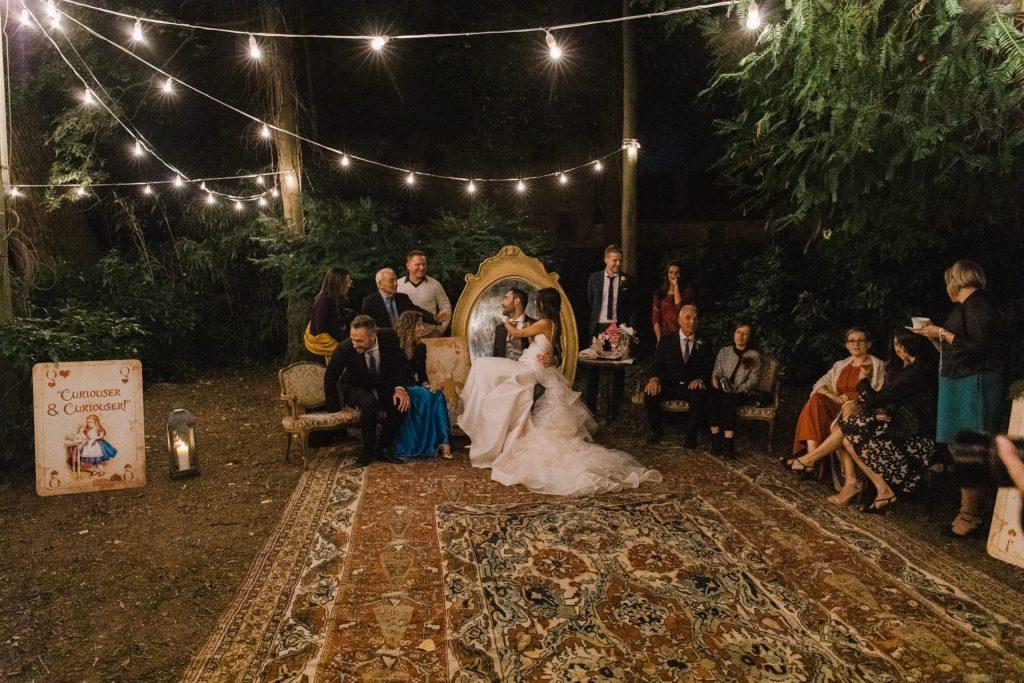 Luxury Destination Wedding in Italy Hills Autumn Alice in Wonderland Wedding Photos