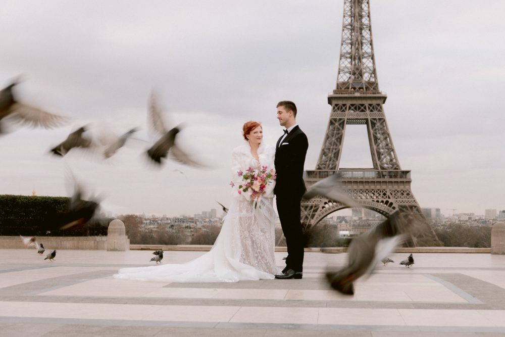 Paris Elopement Photographer Videographer Destination Wedding Engagement Photos Travel Couple Photoshoot Videographer Italian