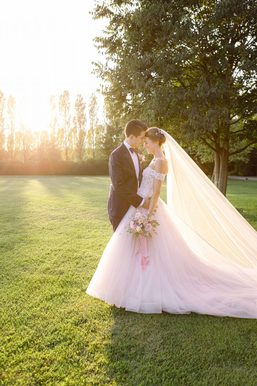 Kiss bride groom Elegant Countryside Wedding in the North of Italy, Treviso Venice